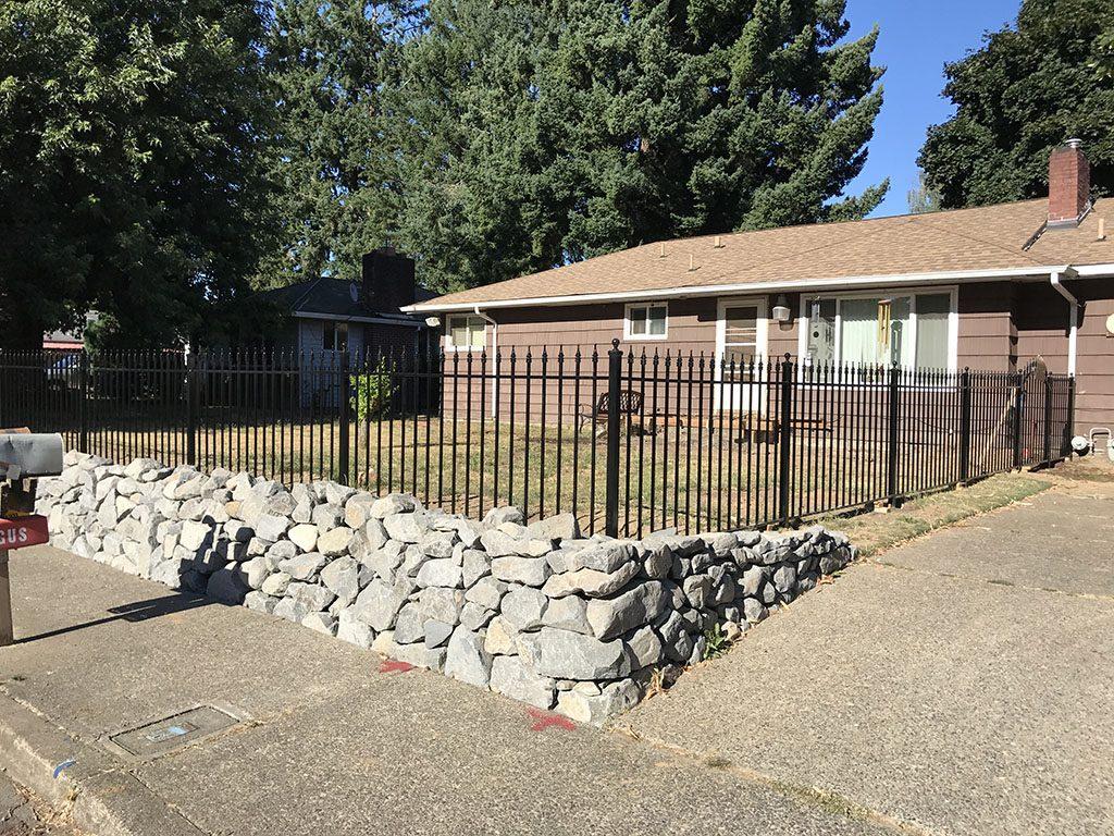 Adrians Iron Works does custom iron fences, security fence, ornamental fence, dog fences and yard fences in Portland Oregon.