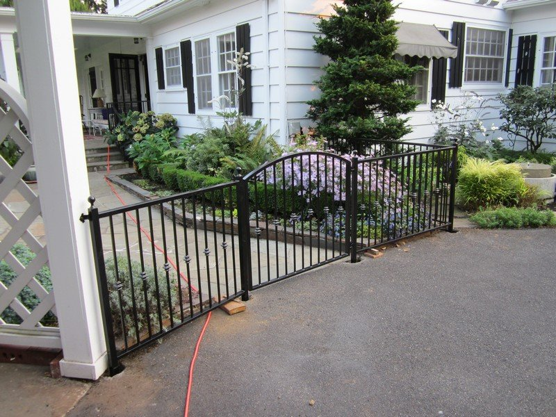 custom iron gates, security gates, ornamental gates, driveway gates and man gates in Portland Oregon.