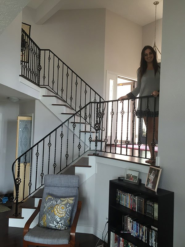 interior custom iron railings