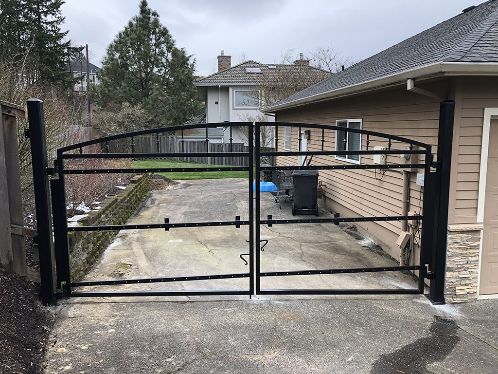 Adrians Iron Works does custom iron gates, security gates, ornamental, driveway and man gates in Portland Oregon.