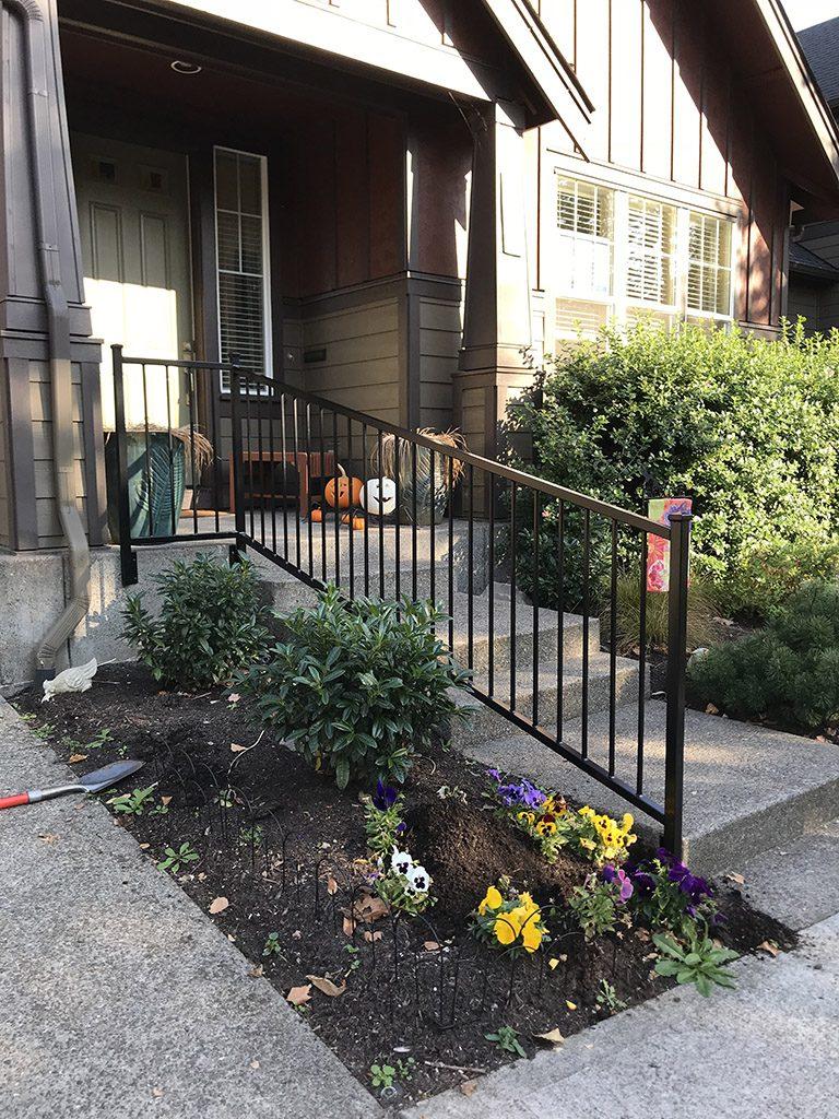 custom iron railing