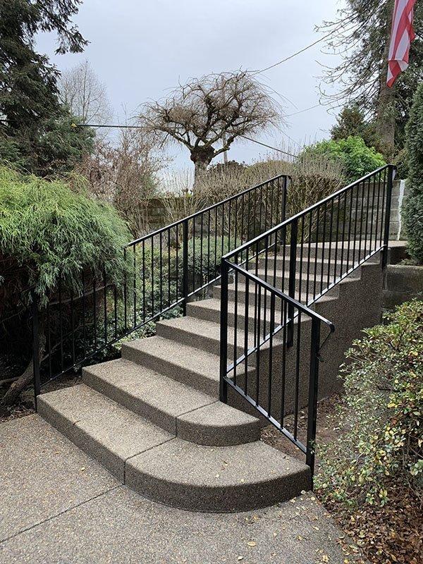 Iron staircase rails