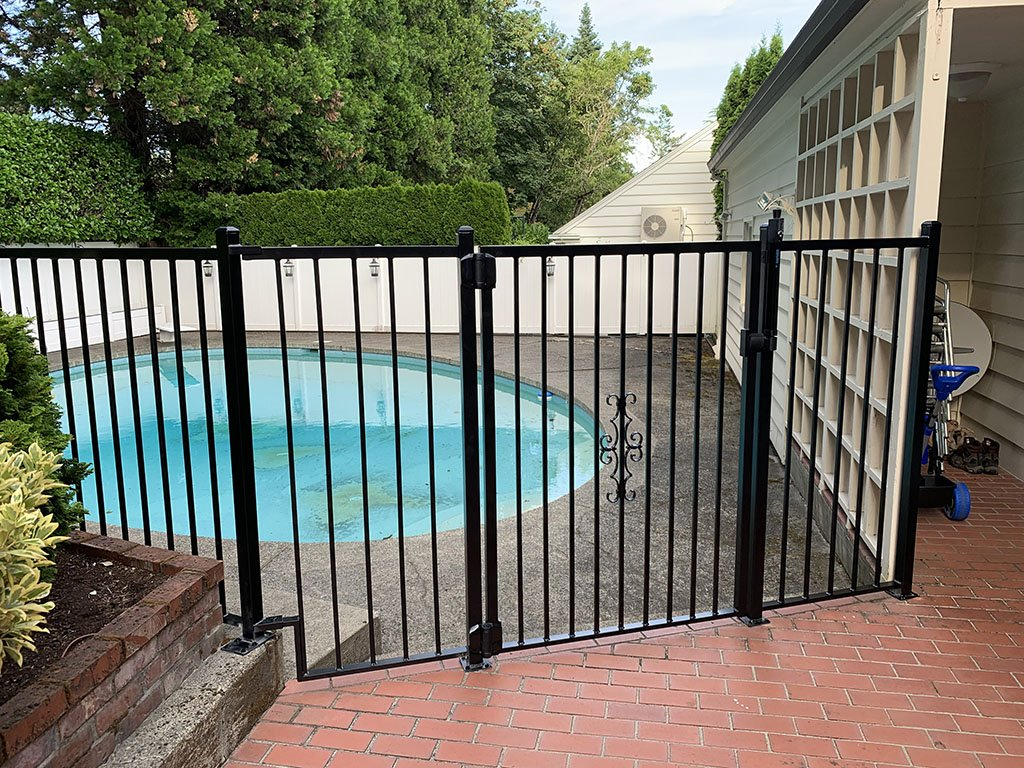 Child safe pool gate