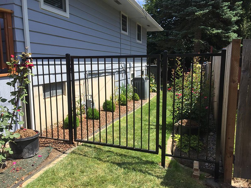 Iron fence to keep the pets in